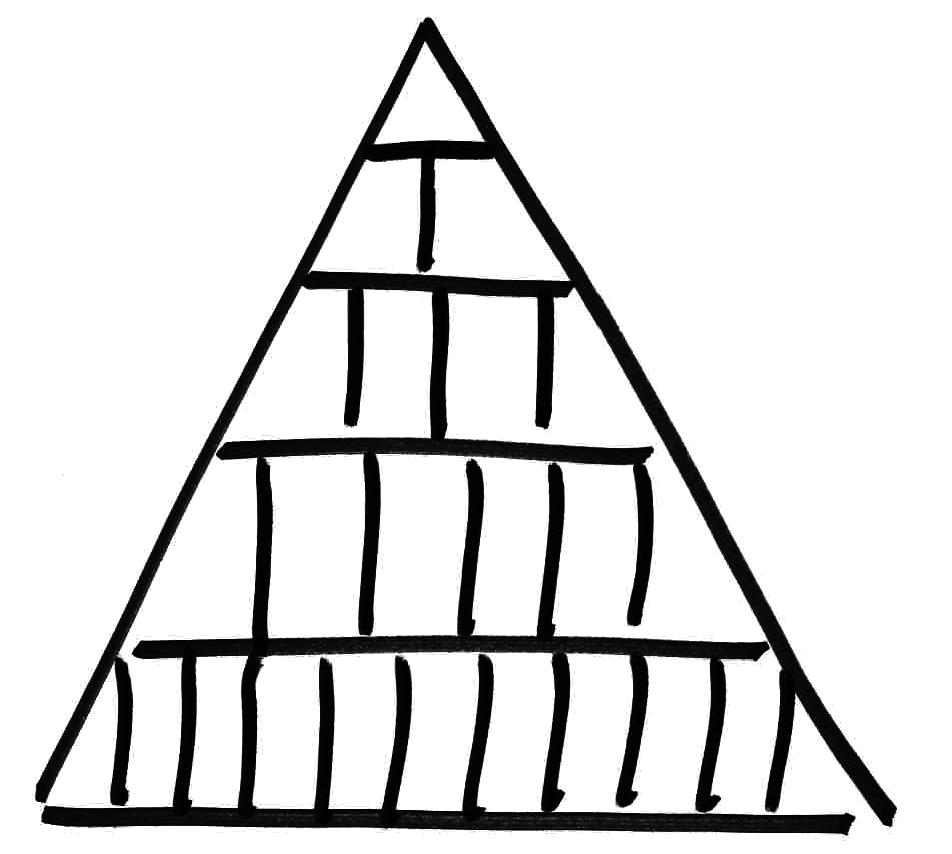 Linien-Pyramide