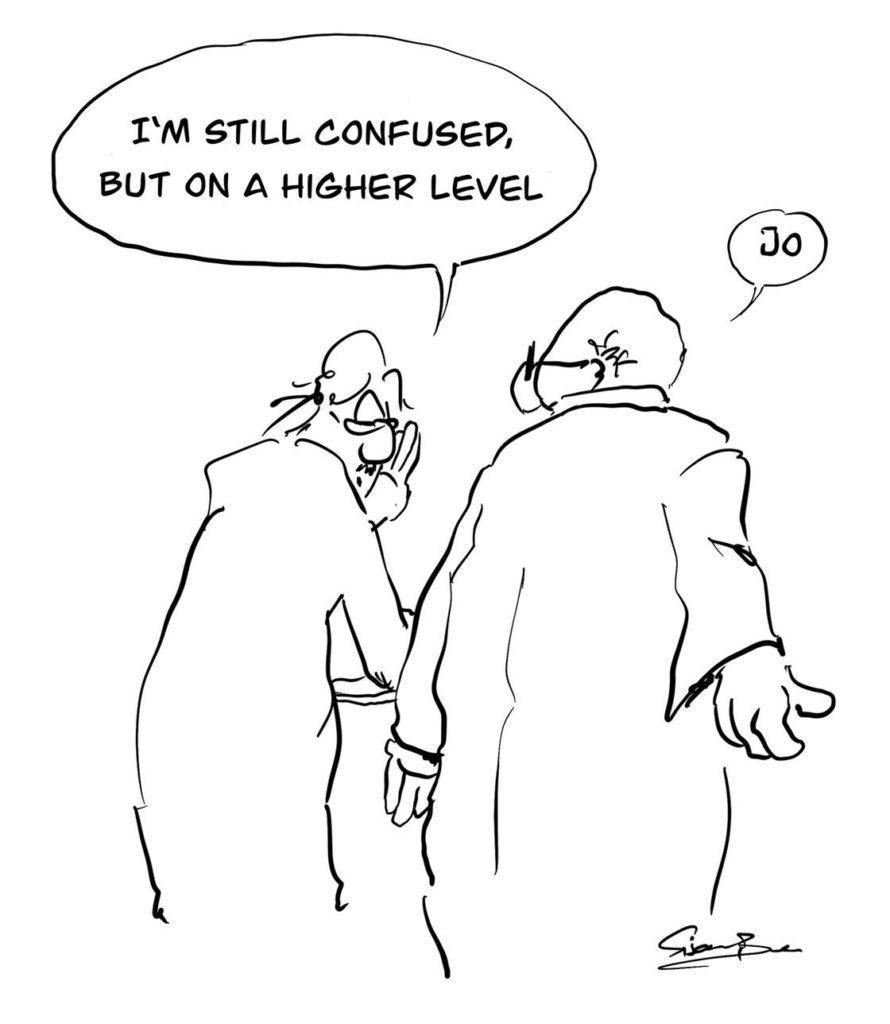 Zeichnung: Friedhelm Feldkamp (mehr auf Facebook: Sisam Ben)